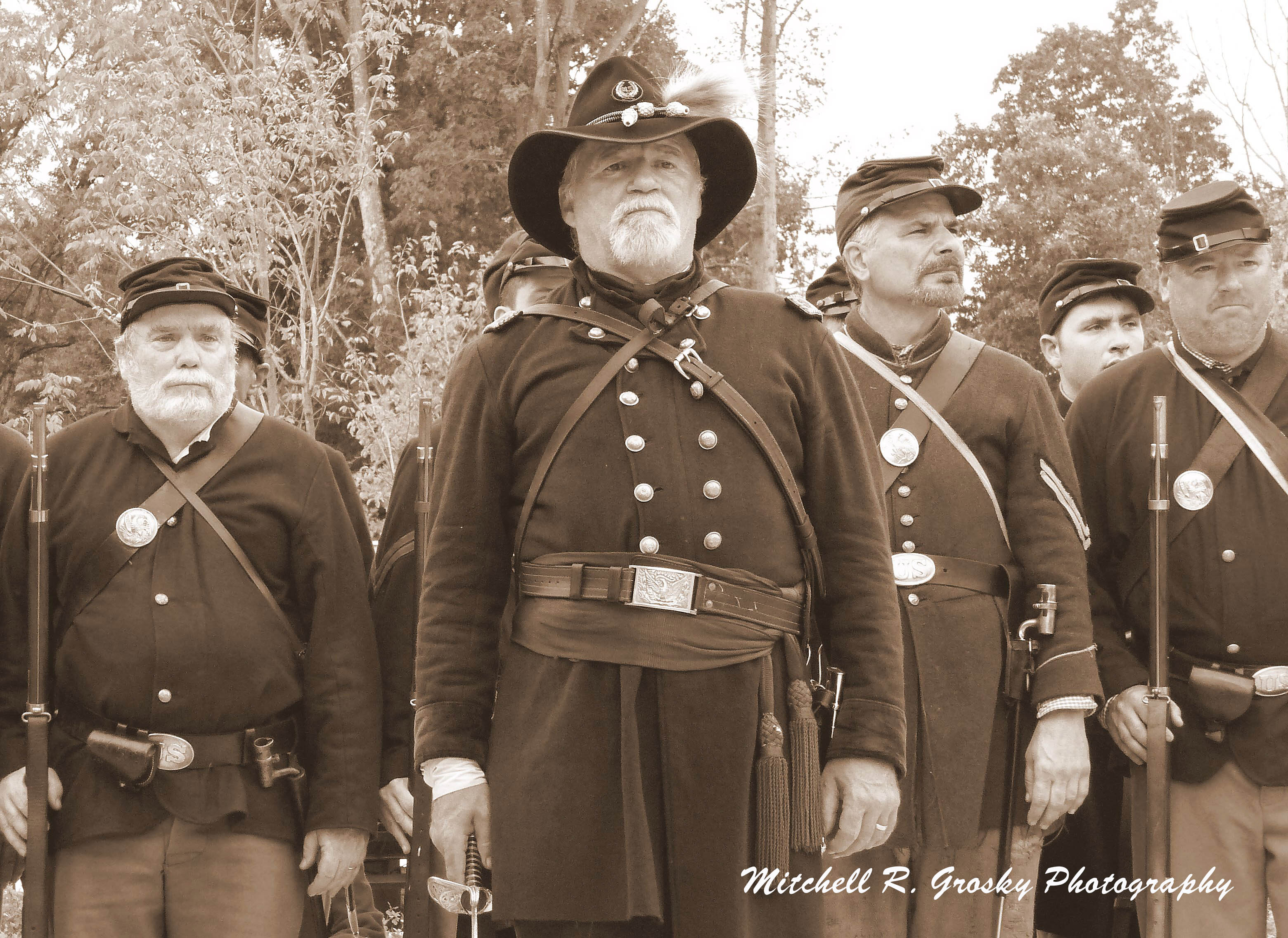 A group of Union soldiers