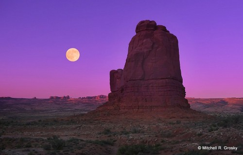 Moonrise at Arches