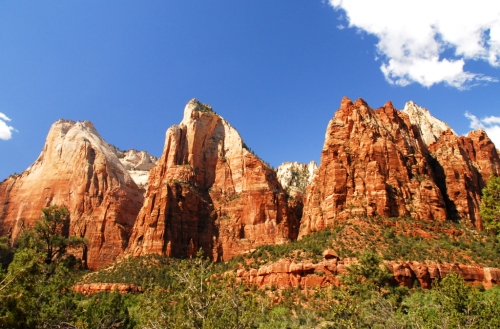 Court of the Patriarchs at Zion in Utah