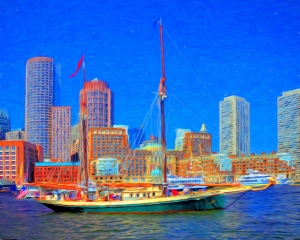 2-Boston Harbor Canvas 16x20 paint